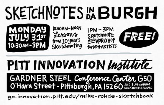 pitt innovation institute sketchnotes in da burgh