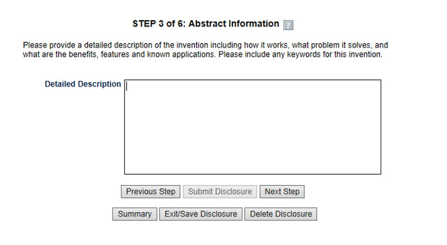 STEP 3 of 6: Abstract Information