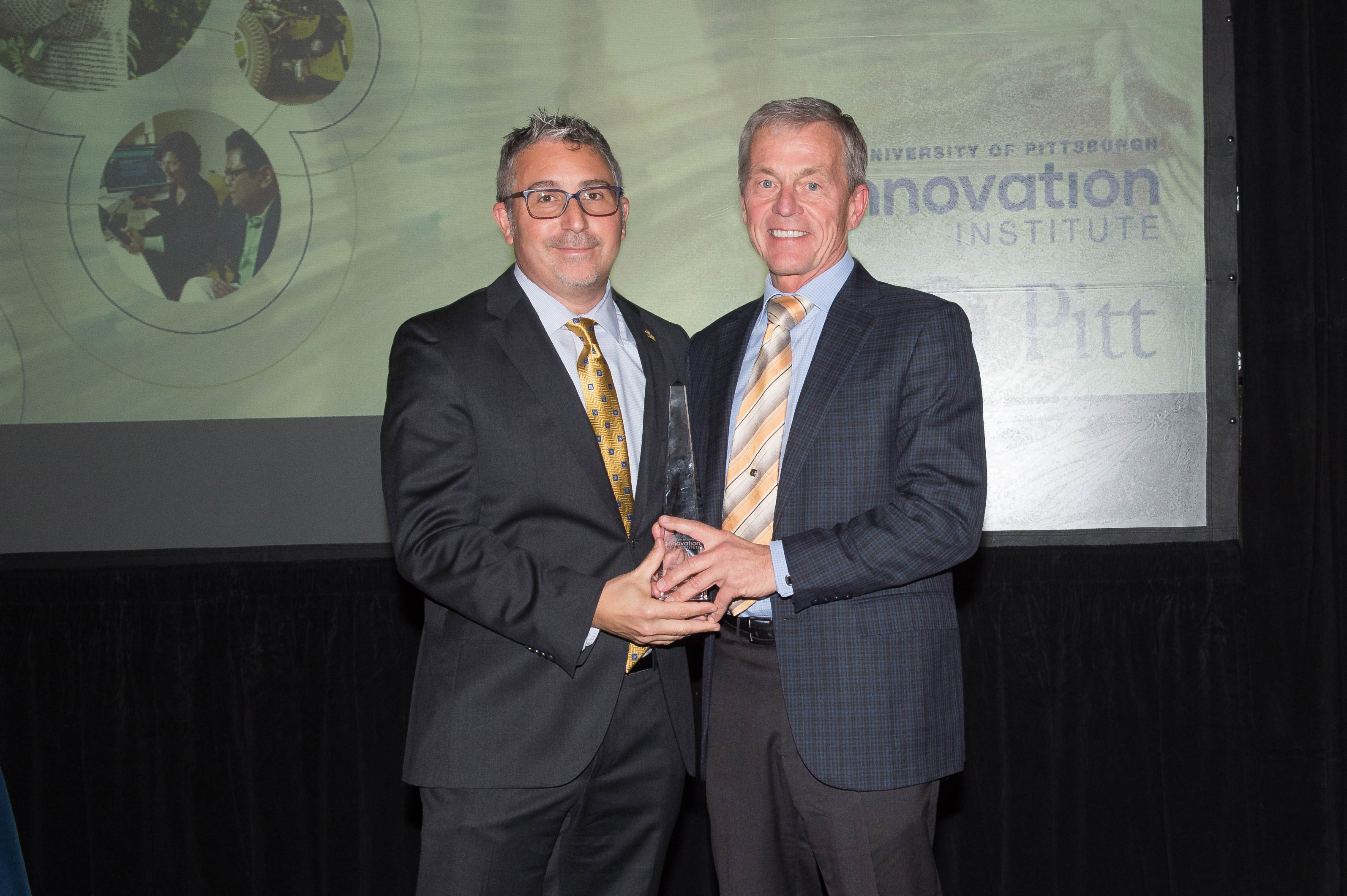 Dr. Stephen Badylak, Professor of Surgery, Deputy Director of the McGowan Institute for Regenerative Medicine, was presented the Marlin Mickle Outstanding Innovator of the Year Award at Pitt's 2018 Celebration of Innovation.